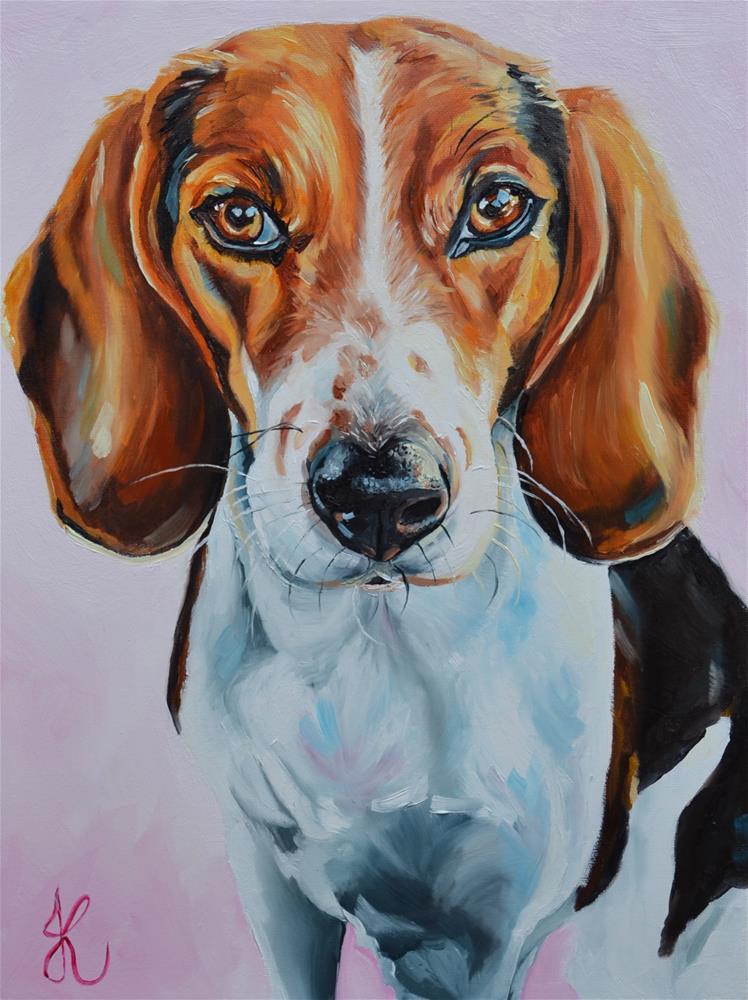 """Roxy"" original fine art by Jacinthe Rivard"