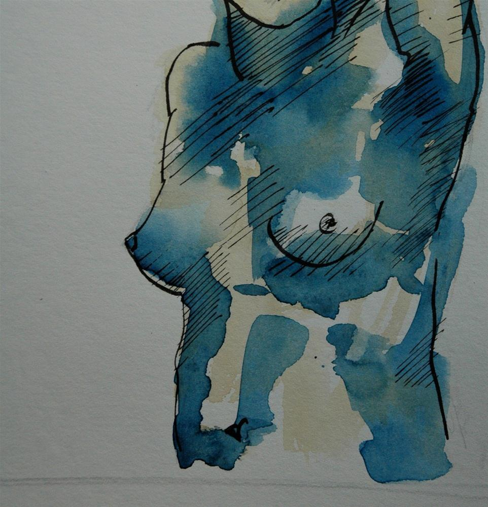 """Blue Torso"" original fine art by Ulrike Schmidt"