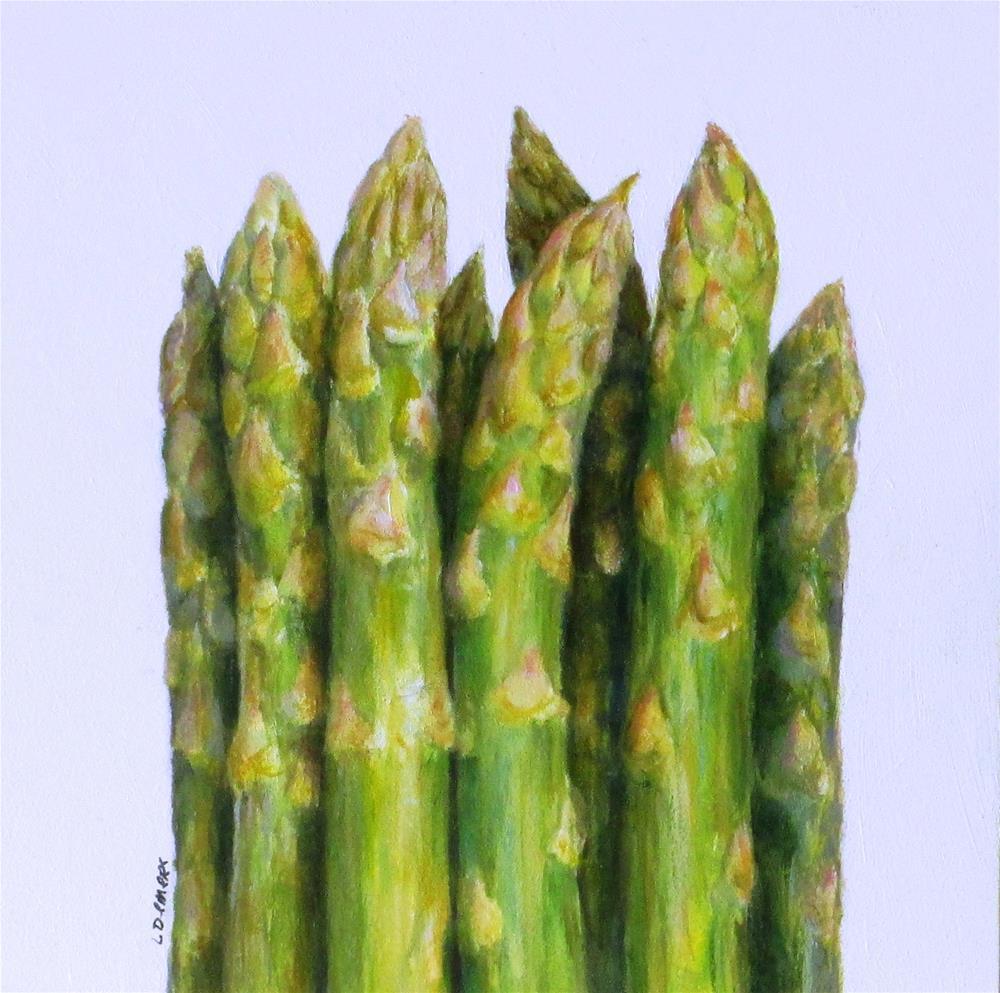 """Asparagus"" original fine art by Linda Demers"