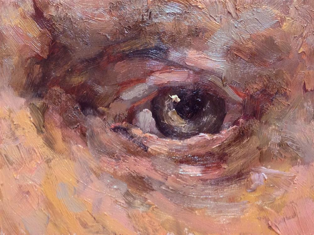 """Eye of Rembrandt"" original fine art by Bruce Housey"