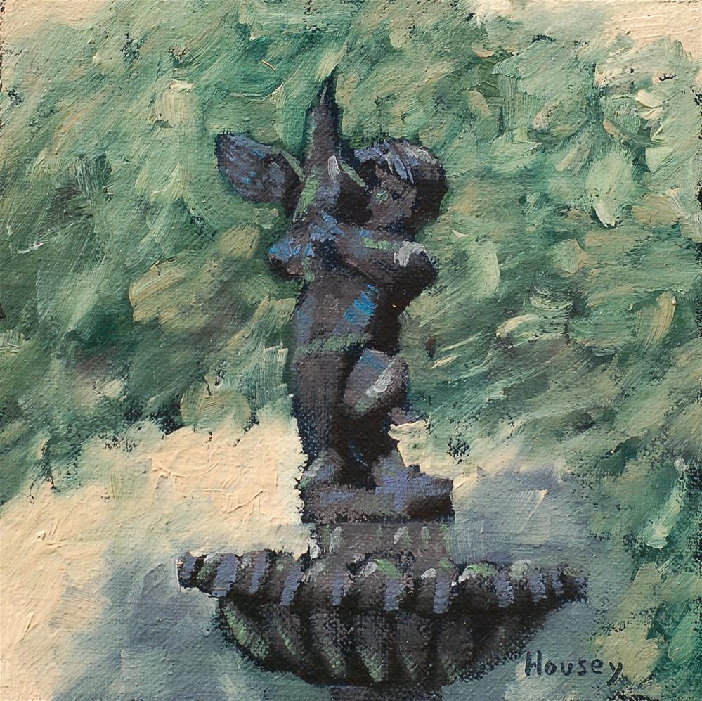"""New Fountain"" original fine art by Bruce Housey"