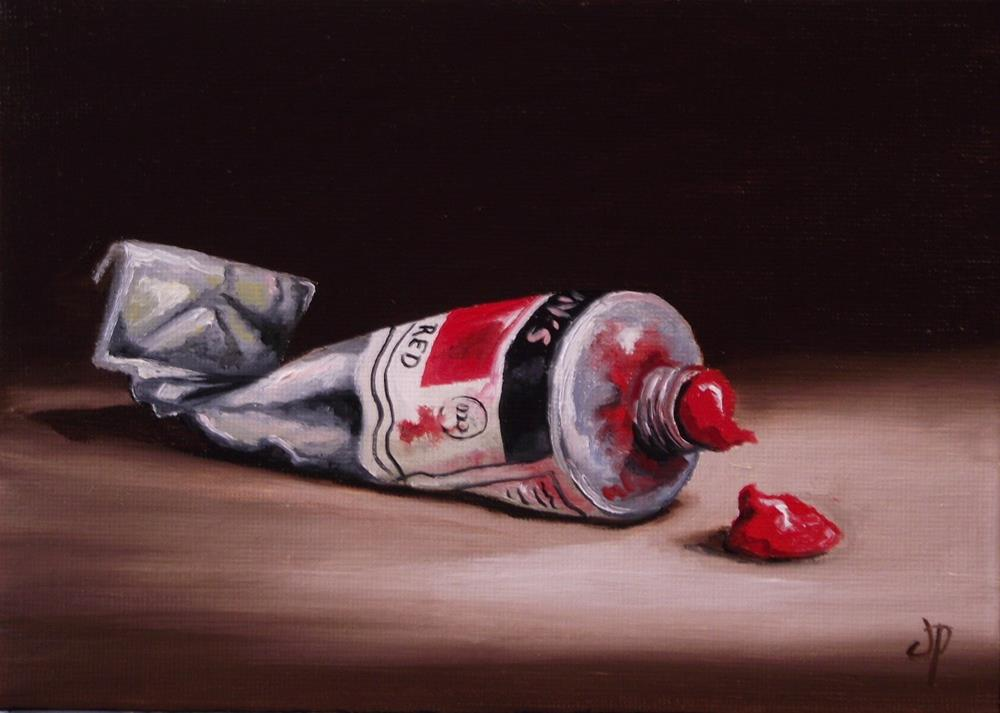 """Cadmium Red"" original fine art by Jane Palmer"