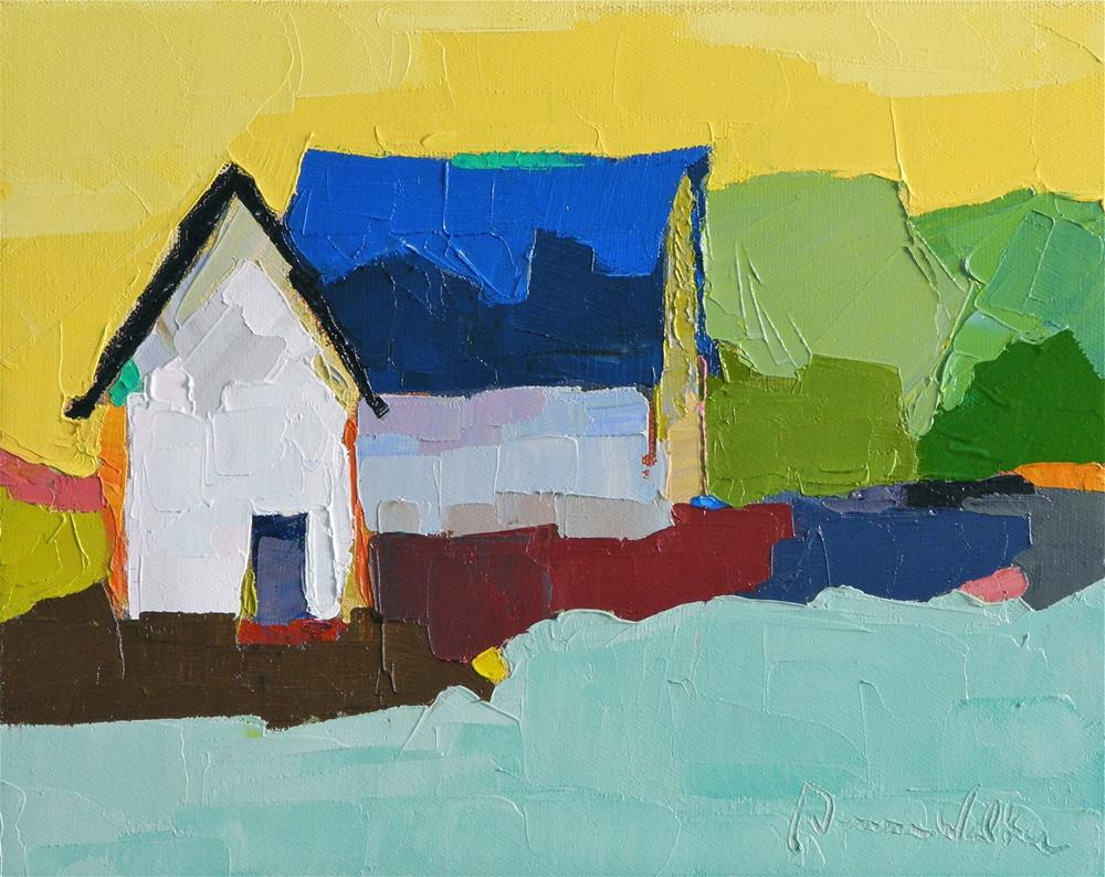"""Blue Roof Barn"" original fine art by Donna Walker"