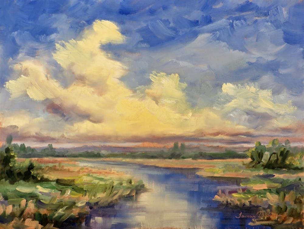 """Magic Over the Marsh"" original fine art by Tammie Dickerson"