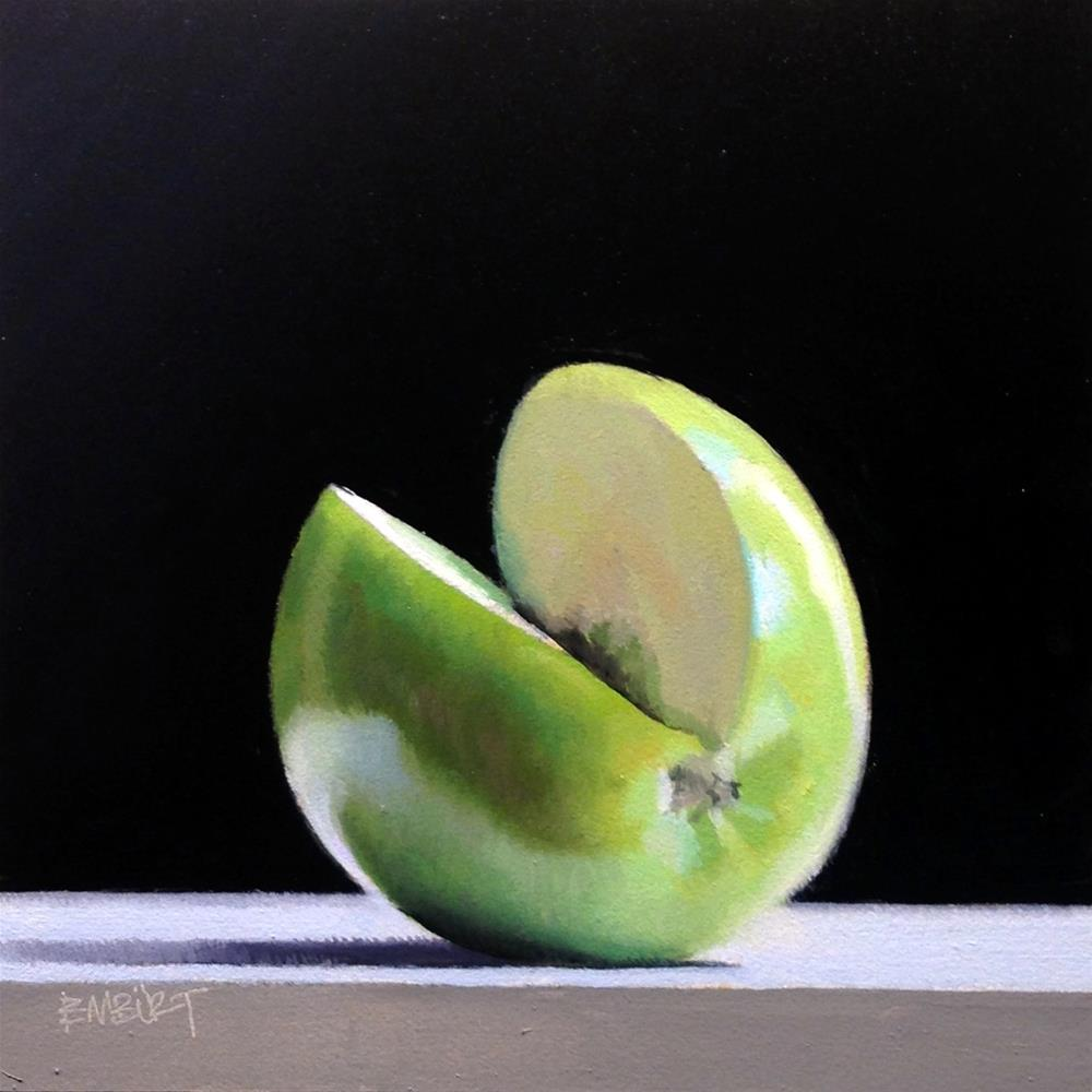 """#368 Granny Smith Slice #2"" original fine art by Brian Burt"