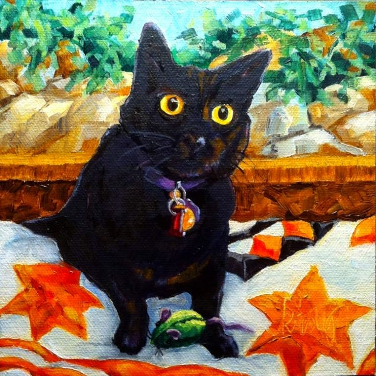 """OSCAR"" original fine art by Kristy Tracy"