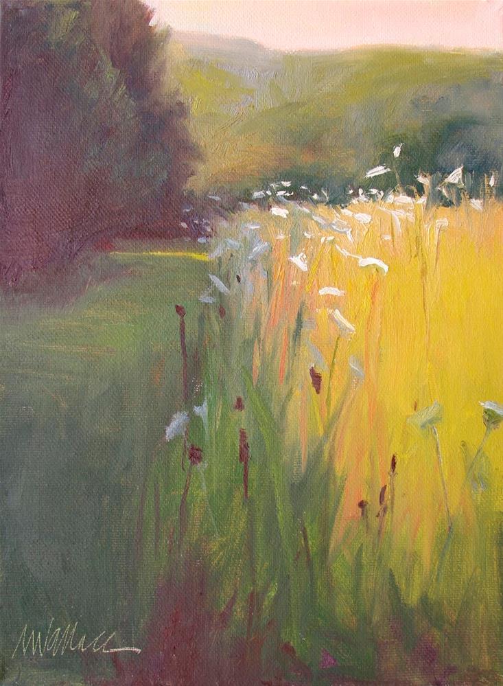 """""""#69 Field glow"""" original fine art by Nancy Wallace"""