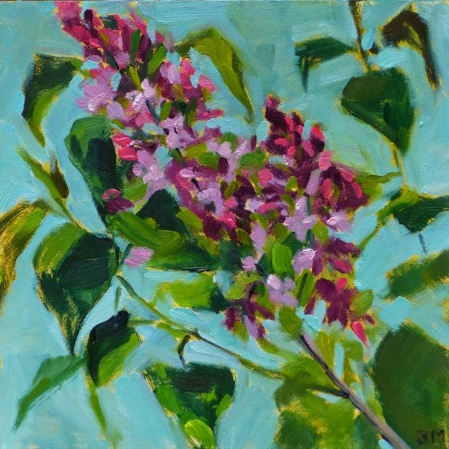 """Lilac"" original fine art by Jessica Miller"