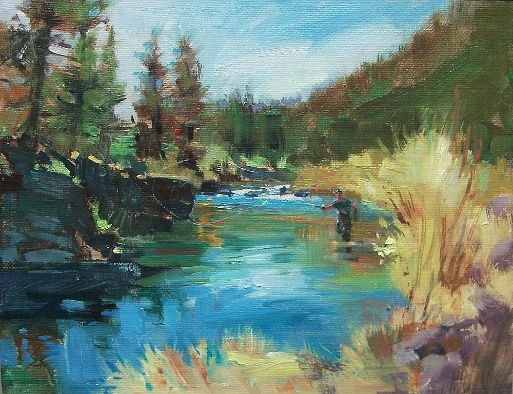 """A Day On The River"" original fine art by Mary Maxam"