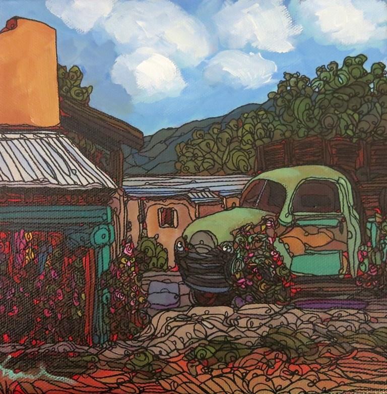 """""""#66 SECO VIEW"""" original fine art by Dee Sanchez"""