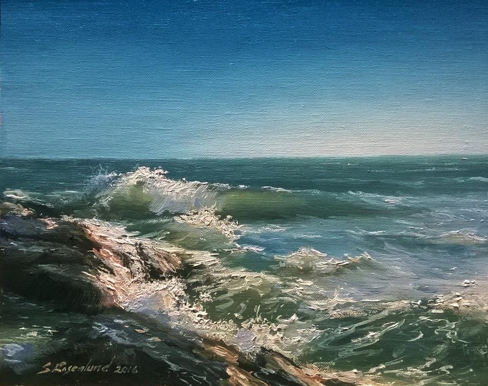 """Windy day"" original fine art by Stig Rosenlund"