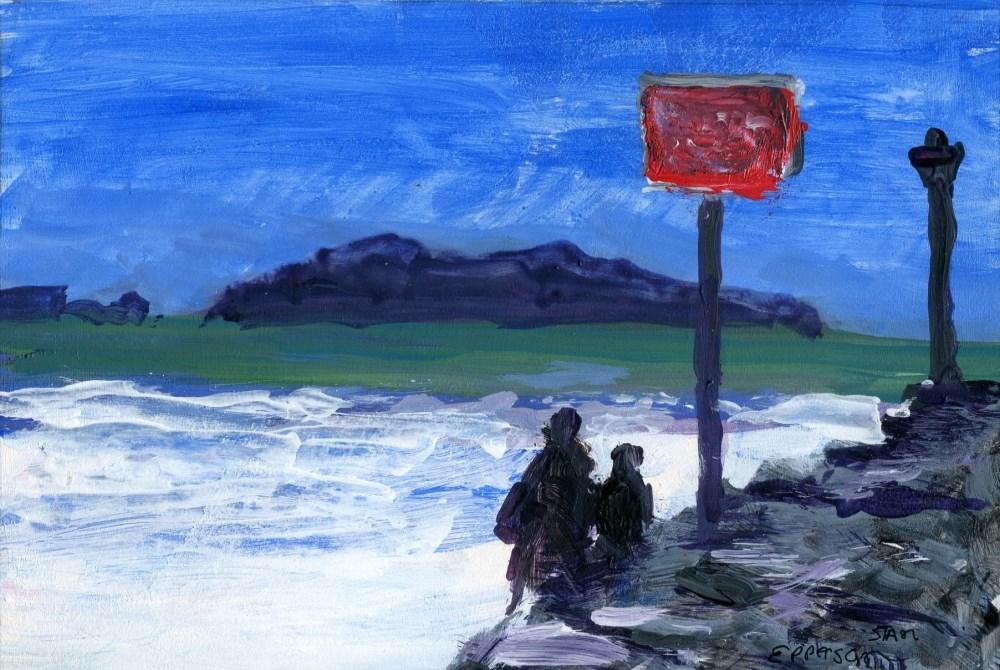 """""""Wave Watch"""" original fine art by Stanley Epperson"""