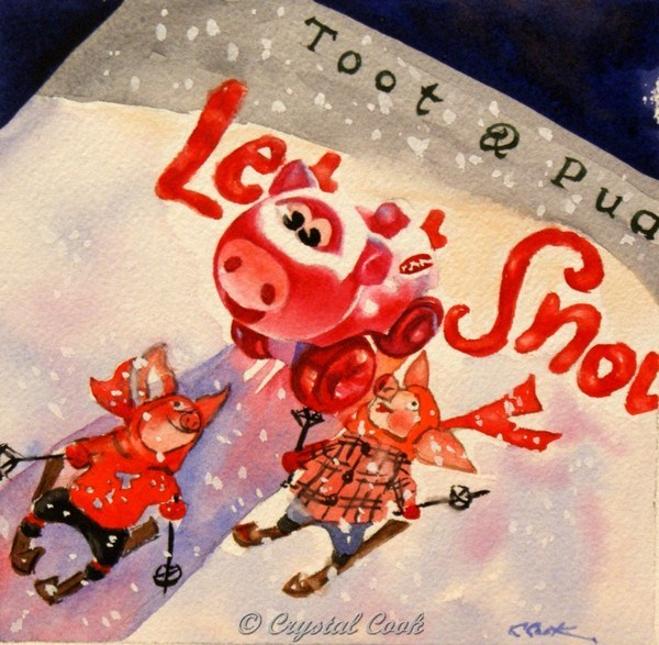 """Let It Snow"" original fine art by Crystal Cook"
