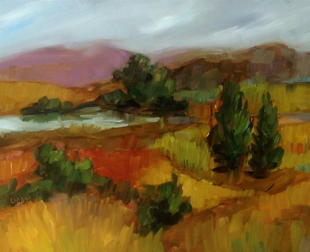 """Autumn Countryside"" original fine art by Libby Anderson"