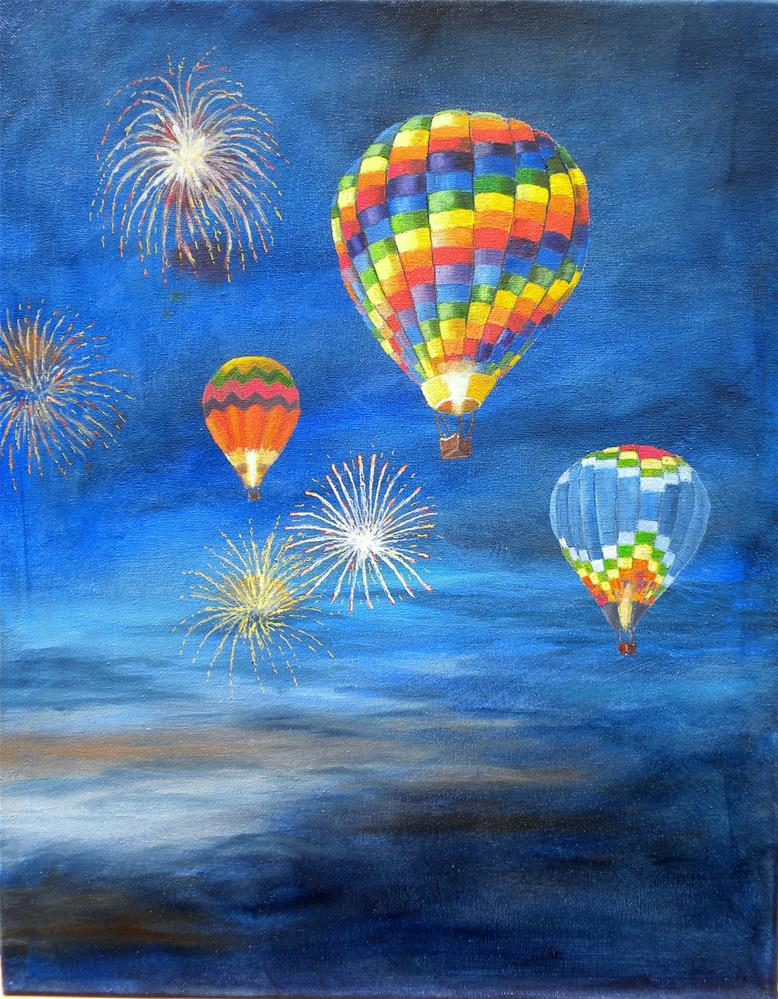"""Balloon Glow"" original fine art by Marti Idlet"
