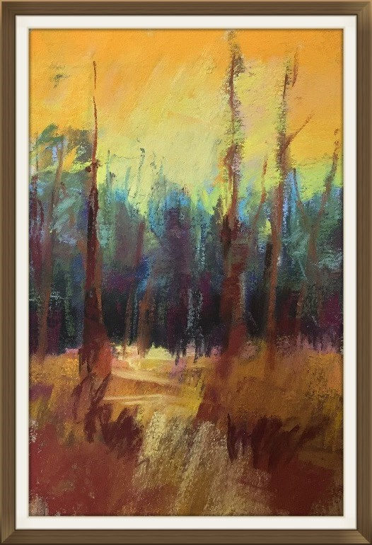 """Can't See The Forest"" original fine art by Leora LaGraffe"