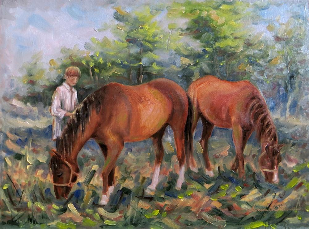 """Letting Out the Horses"" original fine art by Tammie Dickerson"
