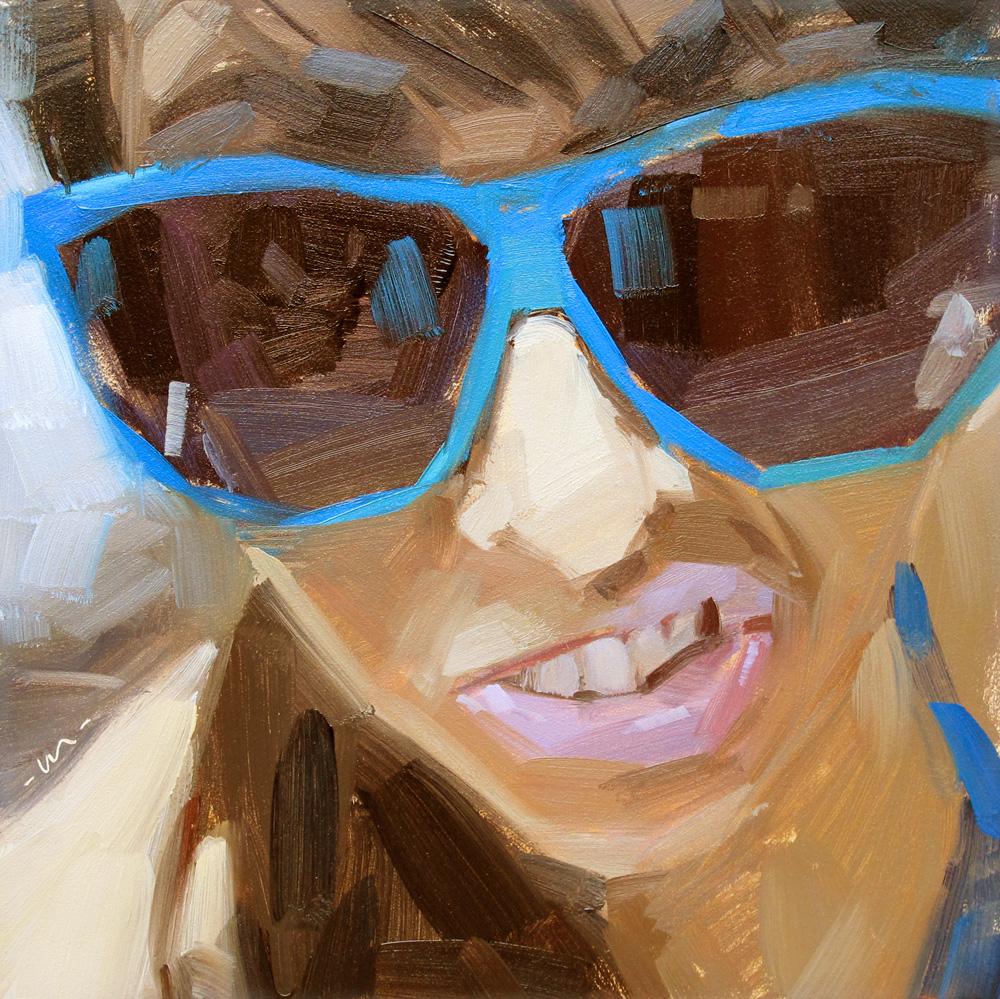 """Elvis Impression"" original fine art by Carol Marine"