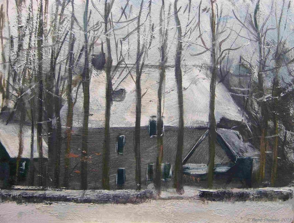 """Between the trees. Doetinchem, Holland."" original fine art by René PleinAir"