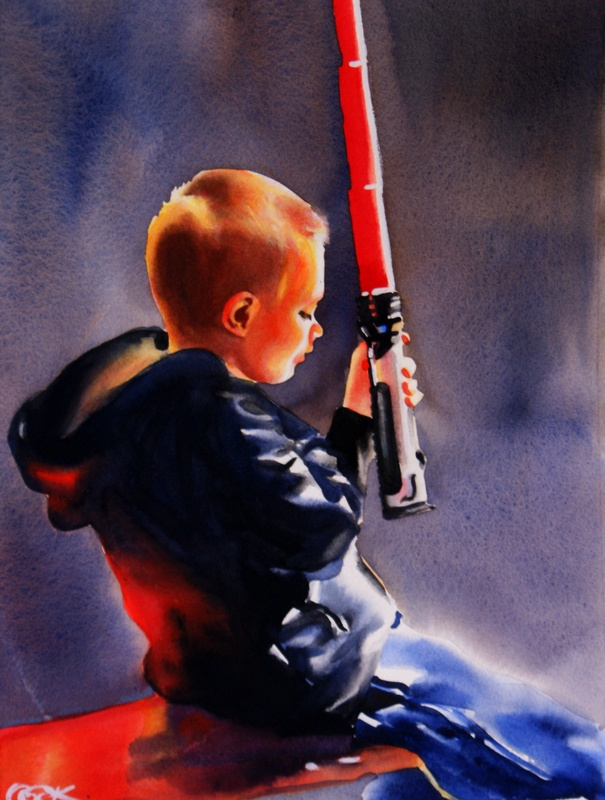 """May The Force Be With You"" original fine art by Crystal Cook"