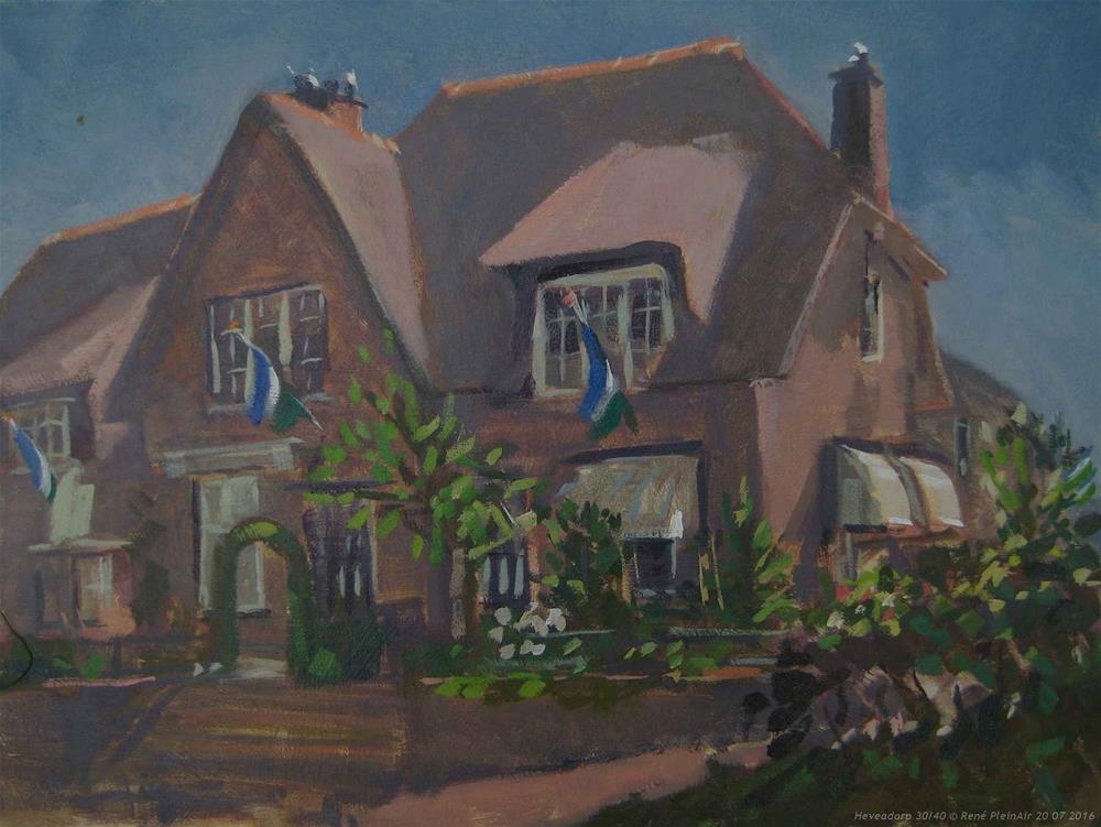 """""""Heveadorp. The Netherlands."""" original fine art by René PleinAir"""