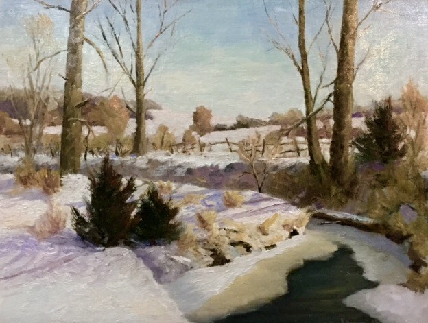 """Carver Creek"" original fine art by Judith Anderson"