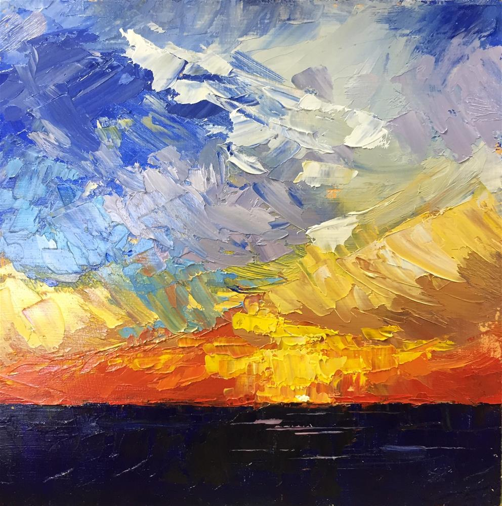 """Brilliant Sunset"" original fine art by Sherri Cassell"