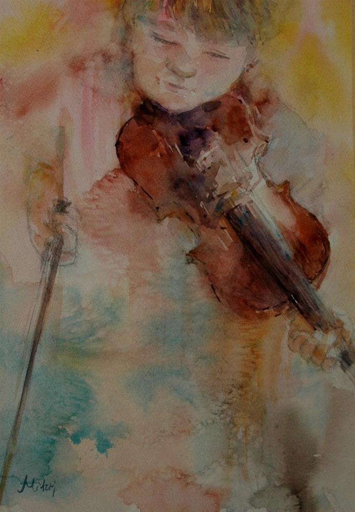 """Practice"" original fine art by Midori Yoshino"