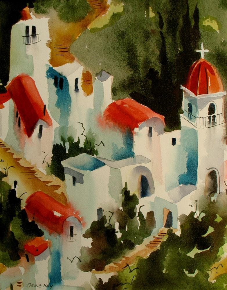 """Amalfi Coast"" original fine art by Jinnie May"