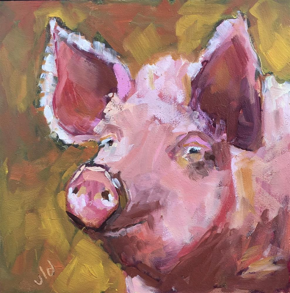"""PLEASANTLY PLUMP"" original fine art by Jean Delaney"