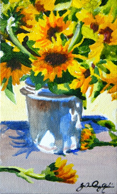 """Bucket Full of Summer"" original fine art by JoAnne Perez Robinson"