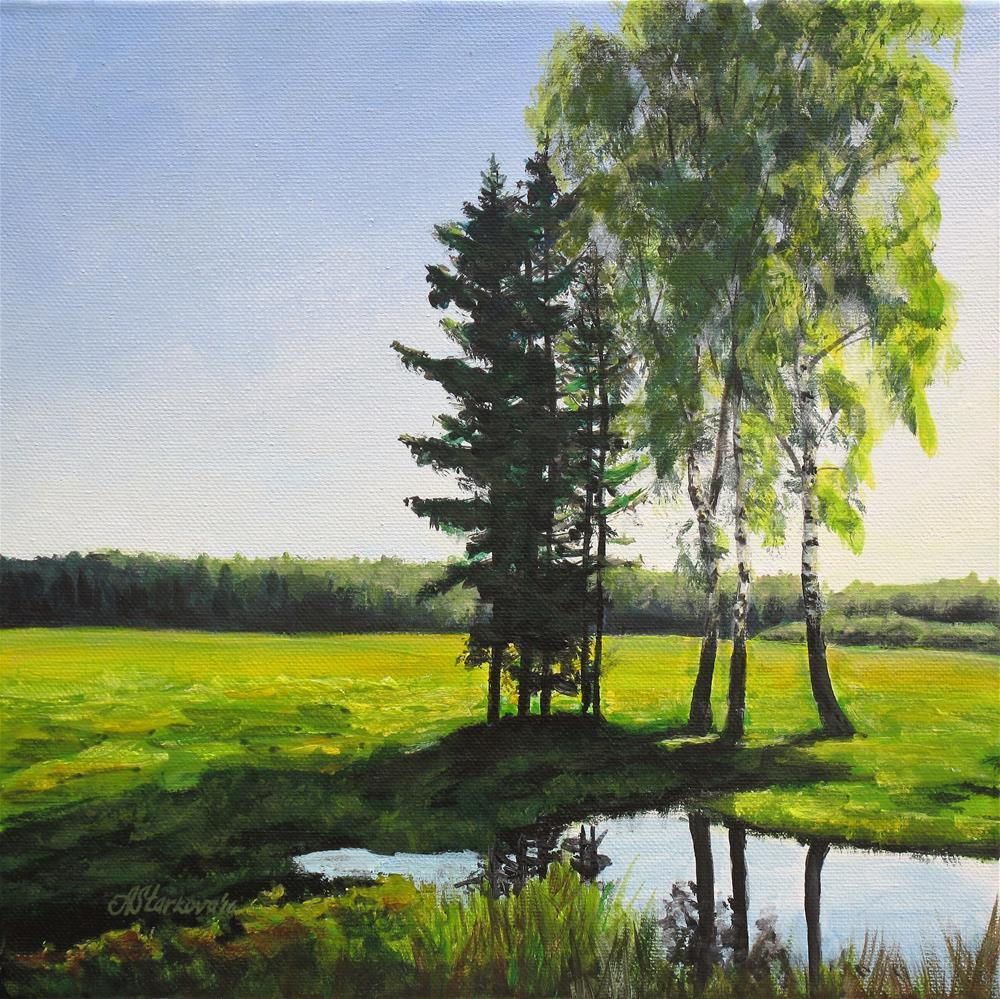 """""""Summer Day"""" original fine art by Anna Starkova"""