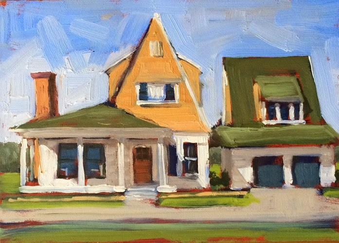 """Suburbia"" original fine art by Deborah Newman"