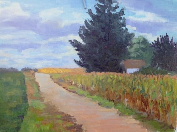 """Maiden Rock Road"" original fine art by Judith Anderson"