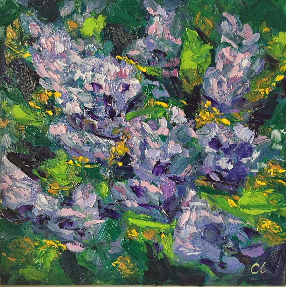 """Springing lilacs"" original fine art by Cheree Apalona Lueck"