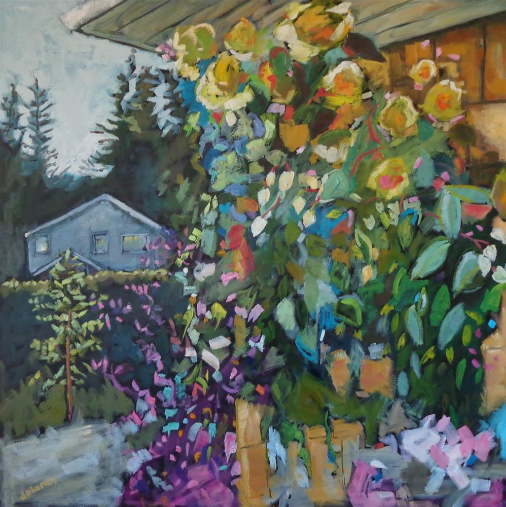 """THE NEIGHBOURS HOUSE"" original fine art by Jean Delaney"