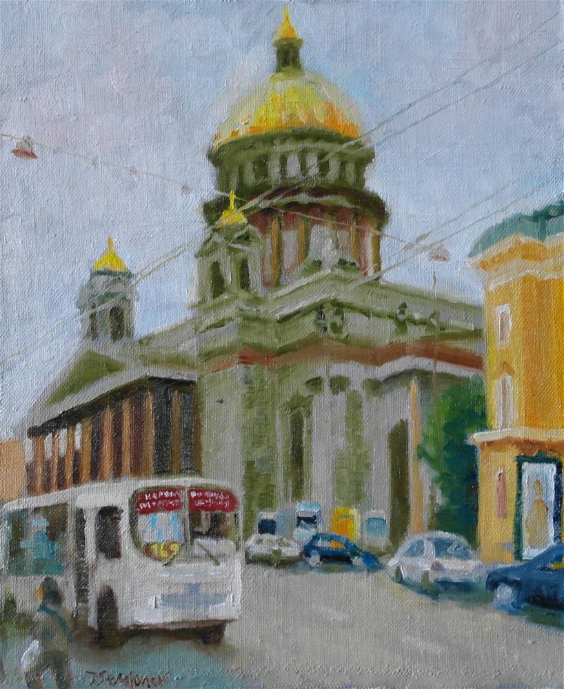 """St. Isaac's Cathedral in St.Petersburg"" original fine art by Yuriy Semyonov"