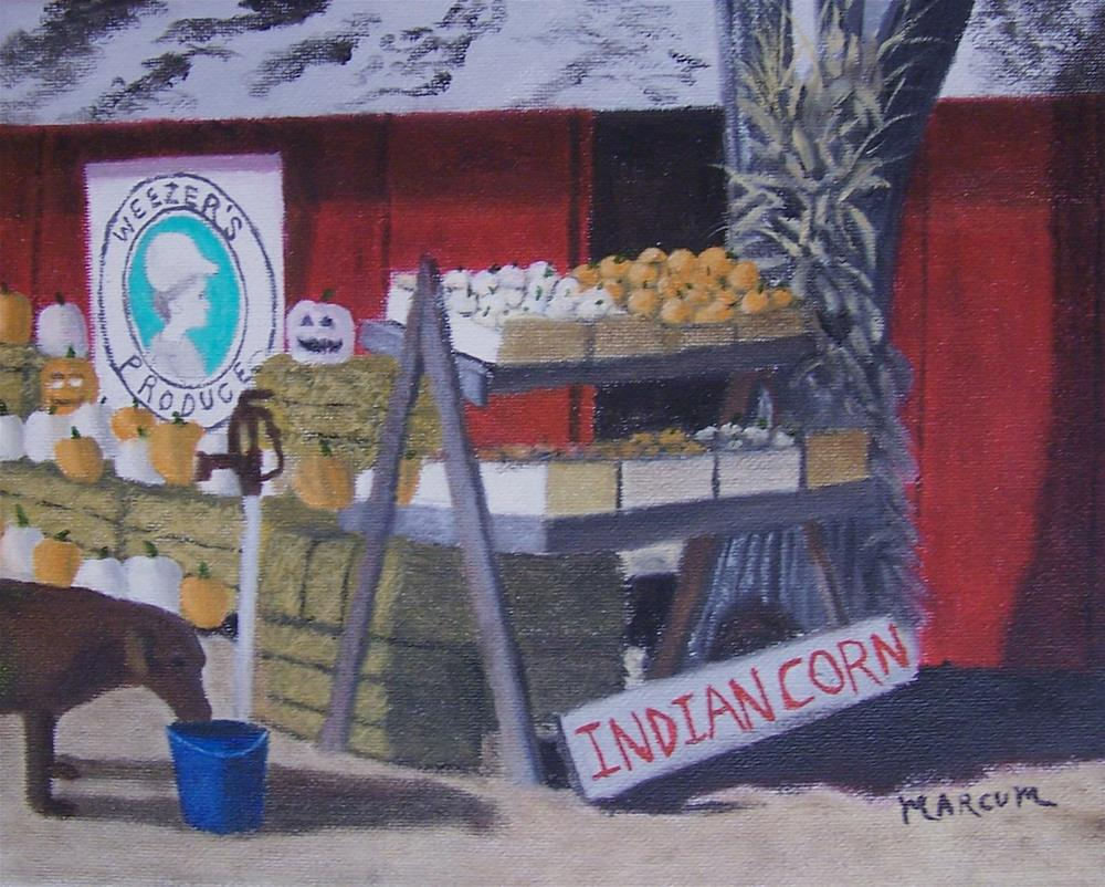 """Weezer's produce stand"" original fine art by John Marcum"