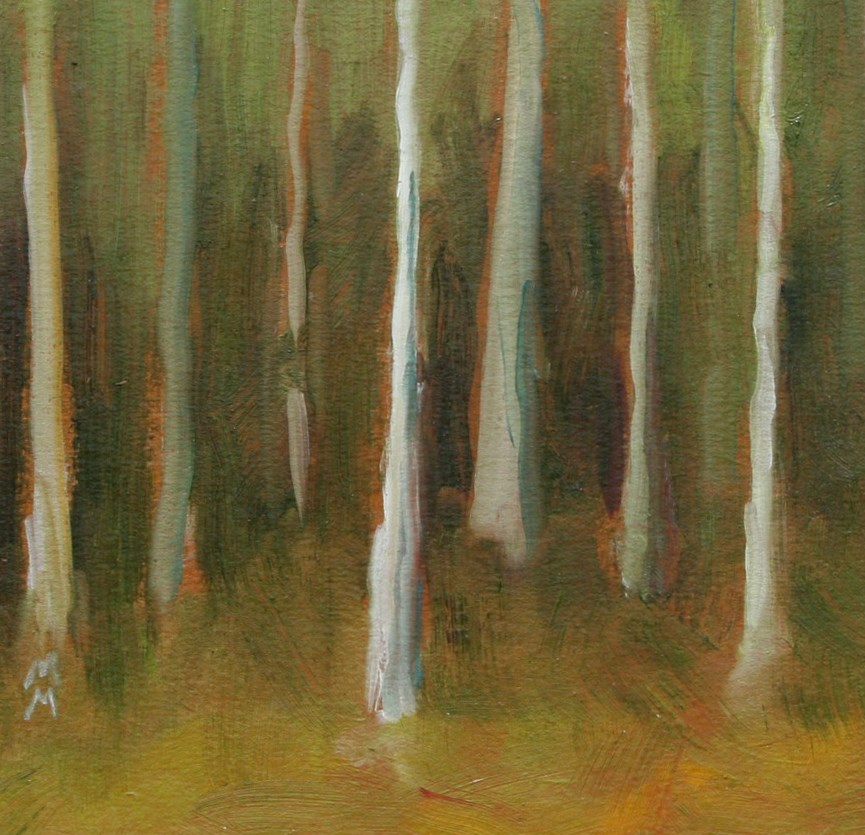 """Ghost Birch"" original fine art by Maria McNitt"