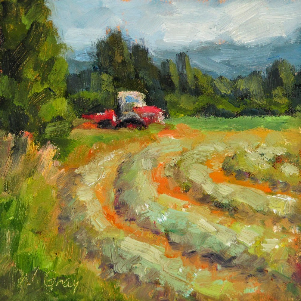 """Windrows No. 4"" original fine art by Naomi Gray"