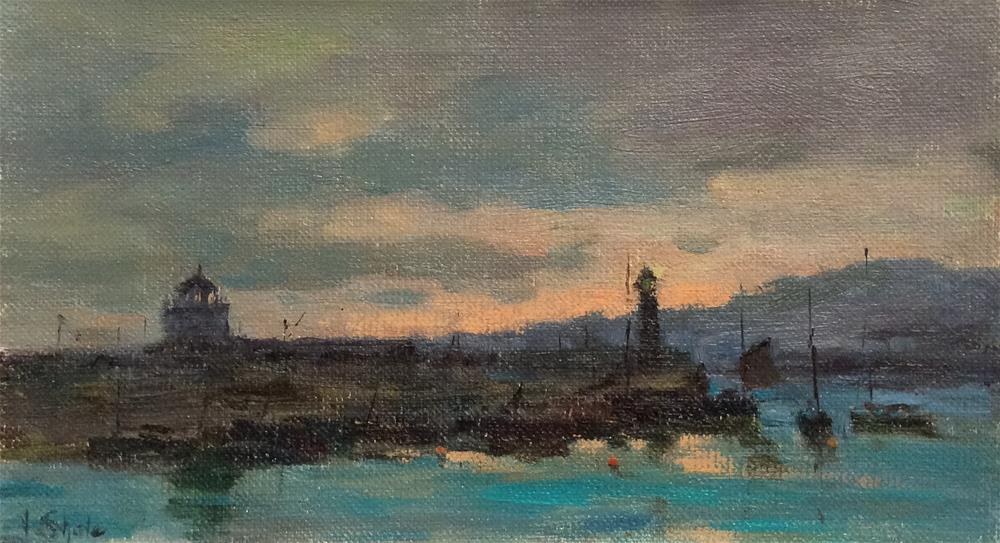 """Late Evening. St Ives"" original fine art by John Shave"