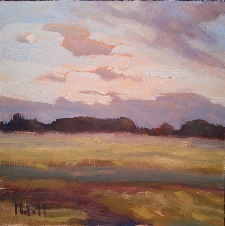 """A New Day Peaceful Landscape Original Impressionism"" original fine art by Heidi Malott"