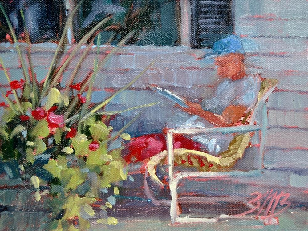 """Afternoon Break"" original fine art by Brienne M Brown"