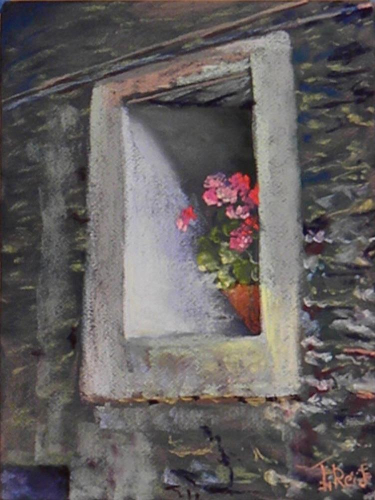 """Flowering Stone"" original fine art by Toby Reid"
