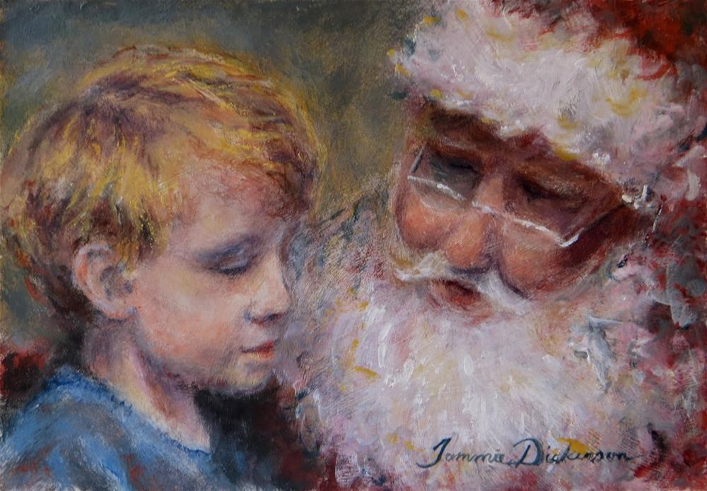 """A Visit with Santa"" original fine art by Tammie Dickerson"