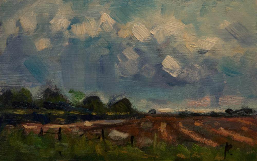 """Field at Oving (West Sussex)"" original fine art by Andre Pallat"