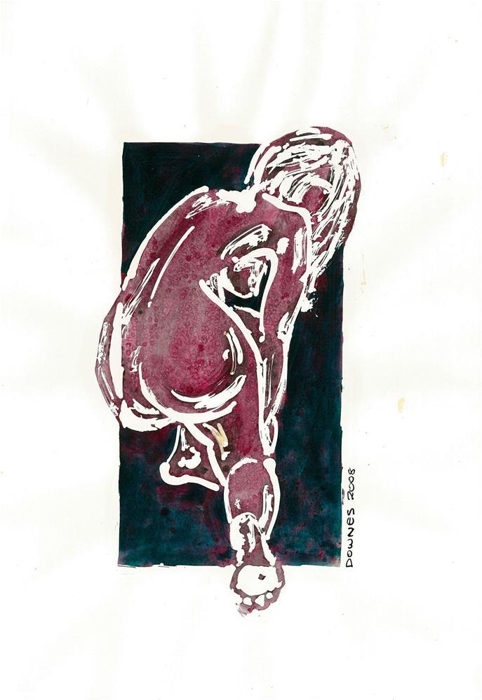 """218 STYLISED LIFE SKETCH 4"" original fine art by Trevor Downes"