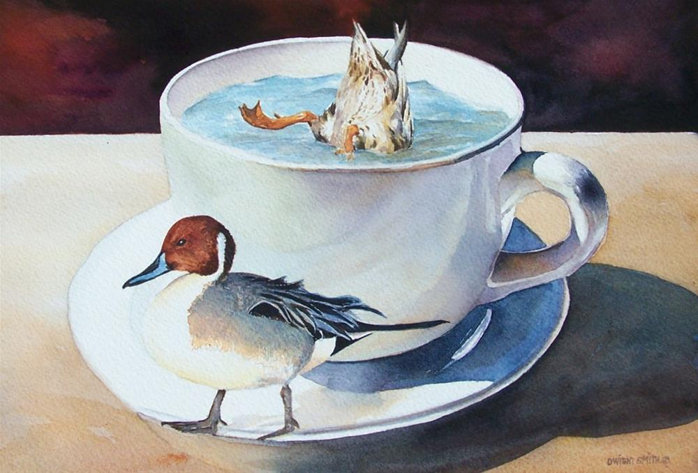 """ TEA & QUACKER'S "" original fine art by Dwight Smith"