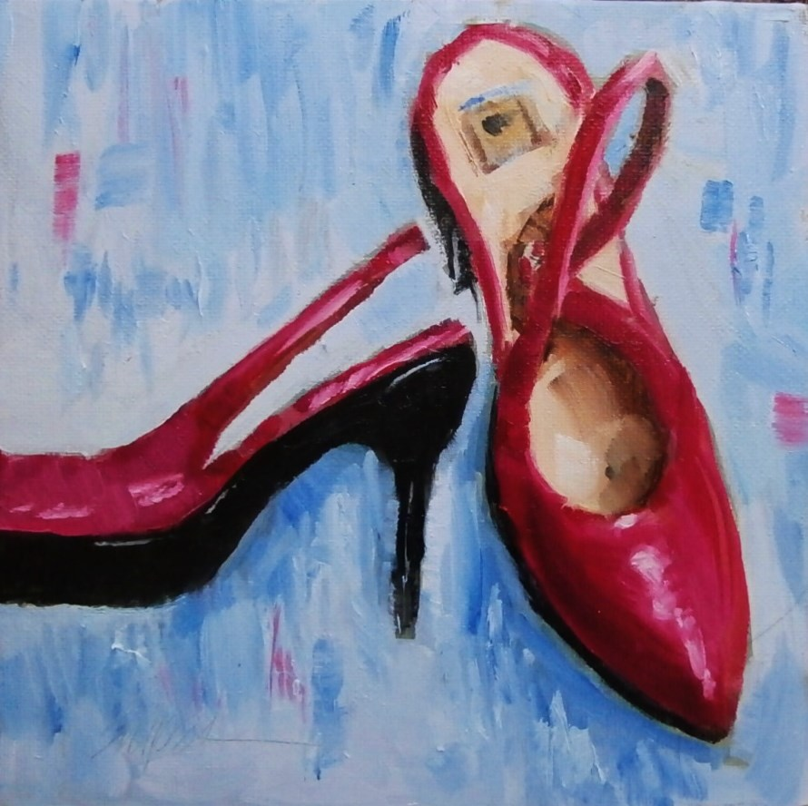 """Size 8"" original fine art by Connie Snipes"