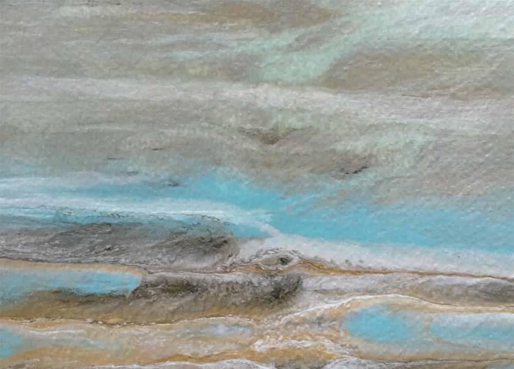"""Original Contemporary Abstract Seascape Painting Gulf Study #9 by Colorado Contemporary Artist Kim"" original fine art by Kimberly Conrad"